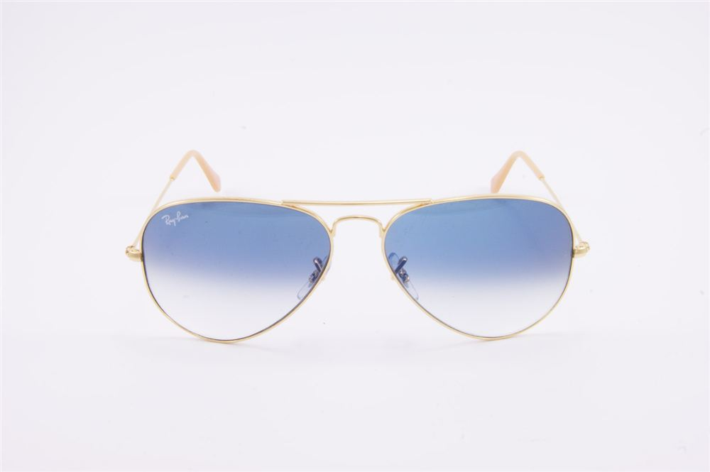 Rb 3025 aviator large metal 001 3f 58 14 2n occhiale da sole in metallo color oro lenti - Ray ban aviator lenti a specchio ...