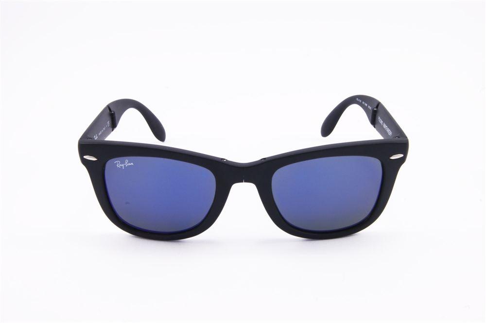 Ray Ban Wayfarer Lenti Specchiate Blu