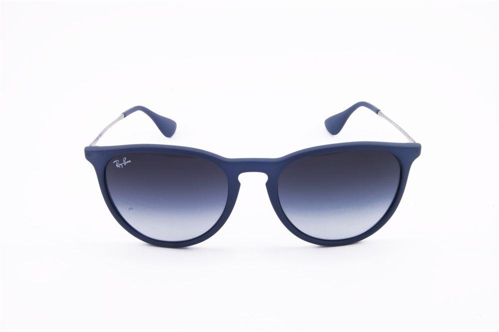 f8fe3632ebc64c RB 4171 ERIKA 6002 8G 54-18 3N   Occhiale da sole in plastica blu opaco,  lenti grigie sfumate.   RAY-BAN   ShopOcchiali.it Vendita Online